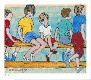 "DAVID BROMLEY ""On The Fence"" Printers Proof Print PP 24cm x 27cm"