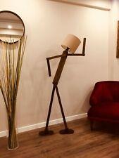 Kreative Stehlampe Leuchte Naturholz verstellbare Gelenke Vintage Rustikal Retro