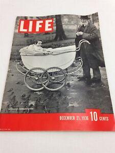 LIFE MAGAZINE, DEC 21, 1936 w/ Subscription Card Vintage Auto Ads Santa Claus