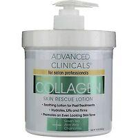 Advanced Clinicals Collagen Skin Rescue Lotion, 16 oz