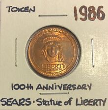 1986 ~ SEARS and STATUE OF LIBERTY 100th ANNIVERSARY TOKEN