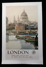 London `A float upon ethereal tides St. Paul`s above the city rides` Poster