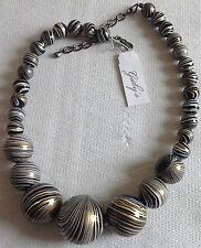 collier rétro perle noir dessin or et blanc grosseur différentes qualité A20