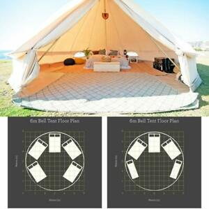 UNISTRENGH 6M Canvas Bell Tent Waterproof Glamping Camping Family Tent Yurt Tipi