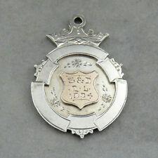Vintage Sterling Silver Hallmarked Fob Fattorini Bradford 1904