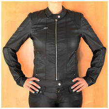 Neu Vero Moda Damen Jacke PU Leder Women Biker Leather Jacket Black Schwarz