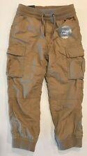 NWT GAP Boys Cozy Lined Cargo Jogger Pants Sz S-M-XL Beige #00327