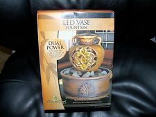 Newport Coast Collection LED Vase Fountain (Dual Power) NEW