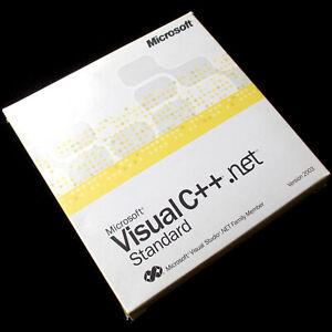 Microsoft C++.net Standard 2003, Visual Studio.net, Full UK CD Retail, with MSDN
