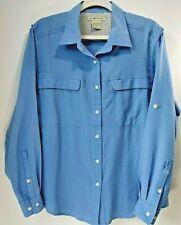 Exofficio Adventure Travel Vented Shirt W's M Blue Plaid Outdoor Fishing
