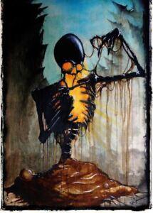 Hexxus Fern Gully Skull Creepy Original Art Artwork Poster Print 11x17 inch