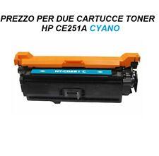 CARTUCCIA PER STAMPANTE (SET DA 2) HP COLORJET CP3525 CM3530 TONER CE251A 504A