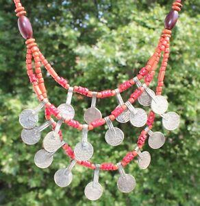 XL Halskette Collier Trachten 49cm Oma Erbe Nachlass vintage