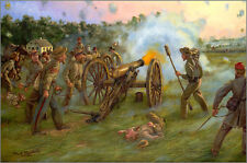 Mark Maritato Civil War THUNDER AT DAWN Antietam CSA Artillery Signed Art Print