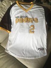 Authentic San Diego Padres TBTC 1978 Home Jersey 2 MANZIEL Size 44 Majestic