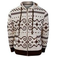 Big Lebowski - Sweater Zip Costume Mens Hoodie - Ivory Off
