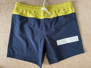Colmar Originals Swimming Trunks Shorts - IT 48 - UK 32 - BNWT - Blue / Yellow