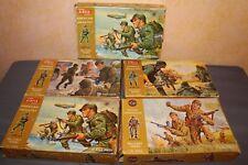Airfix 1/32 american german russian commandos ww 2 box vintage lot