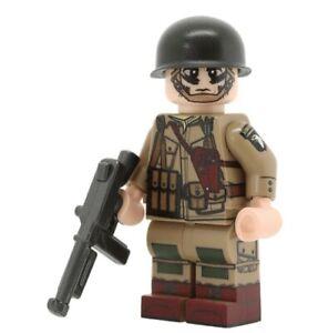 Custom WW2 US PARATROOPER NCO Minifig Full Body Printing NEW United Bricks