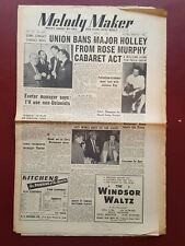 Melody Maker - April 4th 1953 - Music Newspaper Magazine Paper #B927