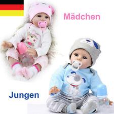 Reborn Baby Puppe Lebensecht Handgefertigt Weich Silikon-Vinyl Junge Mädchen DHL