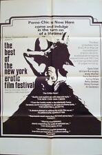 BEST OF THE NEW YORK EROTIC FILM FESTIVAL one sheet movie poster 27x41 WARHOL