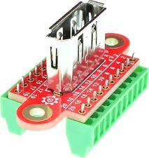 Displayport Female connector Breakout Board, adapter, elabguy DP-F-BO-V1AV, VGA