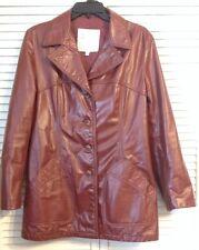 Vintage Womens size 14 Leather London Fog Jacket Brown