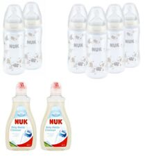 NUK First Choice+ 300ml Bottle with Silicone Teat / Bottle Cleanser