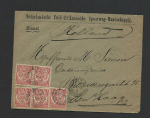 SOUTH AFRICA-TRANSVAAL-1892-COVER -EXTERNAL -FINE-NICE CANCELS-#102
