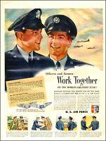 1950 Korean War AD  U.S. AIR FORCE Officers & Airmen Work Together B-36  072620