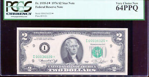 1976 $2 Federal Reserve STAR Note Minneapolis #I00036020* PCGS 64PPQ