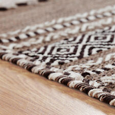 Oriental Weavers Kelim Rug Runner Cushion Hand Woven Cotton & Chenille Beige 160 X 230 Cm