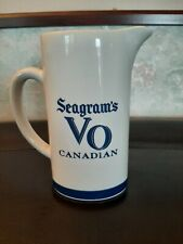 Vintage Seagram's Vo Canadian White Ceramic Bareware Pitcher 6.5 Inches