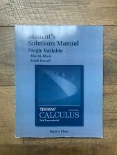 Student Solutions Manual, Single Variable, for Thomas' Calculus 13th Edition