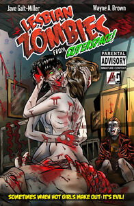 Lesbian Zombies from Outer Space - 18+ Horror Comedy Graphic Novel - Low Price!