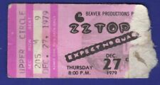 Z Z Top Ticket Stub Dec 27 1979 Expect No Quarter 00004000  St Louis Free Shipping