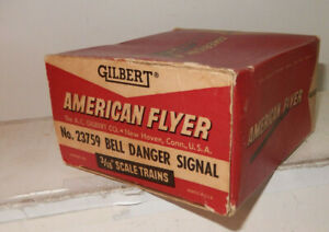 American Flyer 23759 Bell Danger Sig Original Box Only W Insert Solid Very Clean