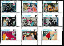 Antigua & Barbuda - Walt Disneys Dornröschen Satz postfrisch 1980 Mi. 597-605