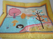 Circo Love 'n Nature Full Queen Quilt Shams Set Owl Birds Trees Yellow Blue Pink