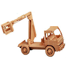 """3-D Wooden Puzzle - Elevator Truck Model Gift Item """"Brand New"""""""