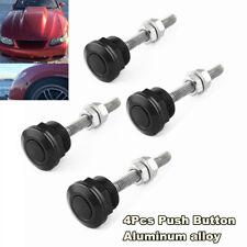 4Pcs Aluminum Push Button Bonnet Hood Pin Lock Clip Kit Car Quick Release Latch