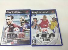 PACK. LOTE 2 JUEGOS FIFA FOOTBALL 2004 + FIFA 06 . Pal España . Certificado