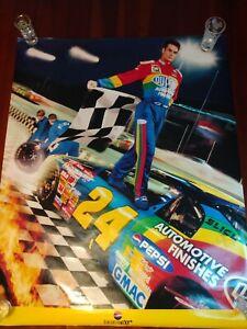 Nascar poster Jeff Gordon 1997 Dupont Pepsi Generation Next rainbow 30x24 rare