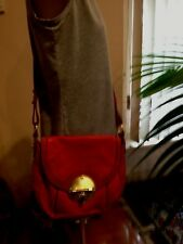Ladies MIMCO CORAL PINK  LEATHER HANDBAG with GOLD HARDWARE  ~ GOOD used COND