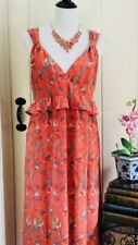 NWOT French Connection Bird Phoenix Print Silk Maxi DRESS Size 12 Rrp $300