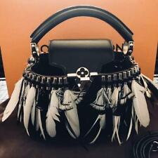 ecf9844a85d LOUIS VUITTON MINI HAND BAG WOMEN LADIES BLACK RARE FEATHER LIMITED EDITION  F/S