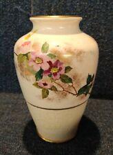More details for rare antique doulton burslem handpainted textured vase u.s. patent 314.002