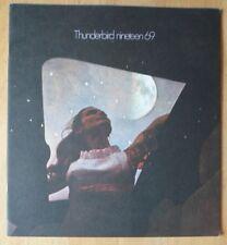 FORD THUNDERBIRD orig 1969 USA Mkt Large Format Prestige Sale Brochure Catalogue
