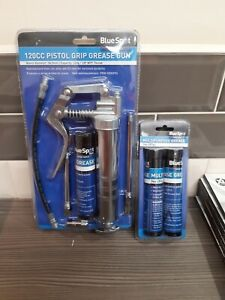Blue Spot 120cc PISTOL GRIP GREASE WITH 3 GREASE TUBS